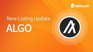 【快訊】Bithumb 上線 ALGO,將於今日 16:00 點開放相關交易對
