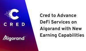 區塊鏈金融科技公司 Cred 與公鏈項目 ALGO 達成 DeFi 金融服務戰略合作