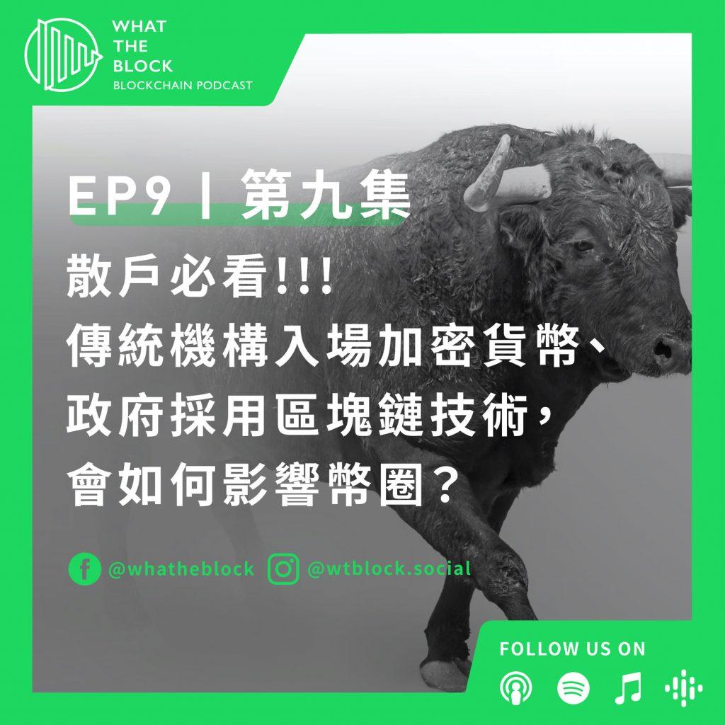 EP9 散戶必聽!!! 傳統機構入場加密貨幣、政府採用區塊鏈技術,會如何影響幣圈?