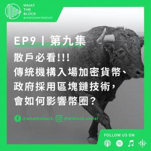 EP9|散戶必聽!!! 傳統機構入場加密貨幣、政府採用區塊鏈技術,會如何影響幣圈?