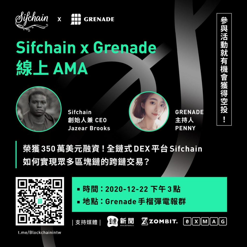 【AMA回顧】榮獲350萬美元融資!全鏈式 DEX 平台 Sifchain,如何實現眾多區塊鏈的跨鏈交易?