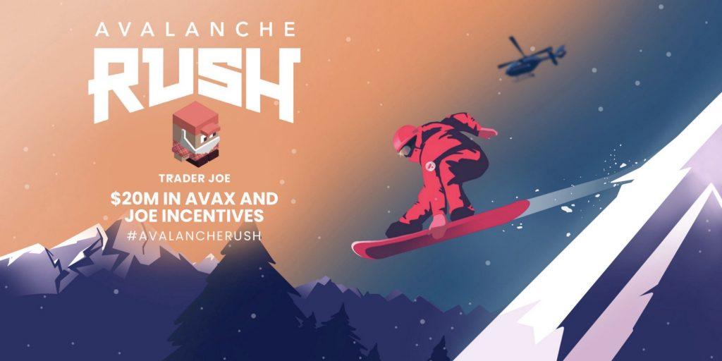 "Avalanche 生態最大的原生 DEX Trader Joe 加入 Avalanche Rush 計劃,""Joe Rush"" 啟動在即。"